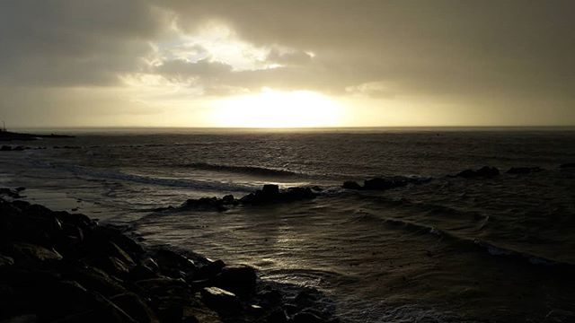 Salthill looking all magic and stormy this morning