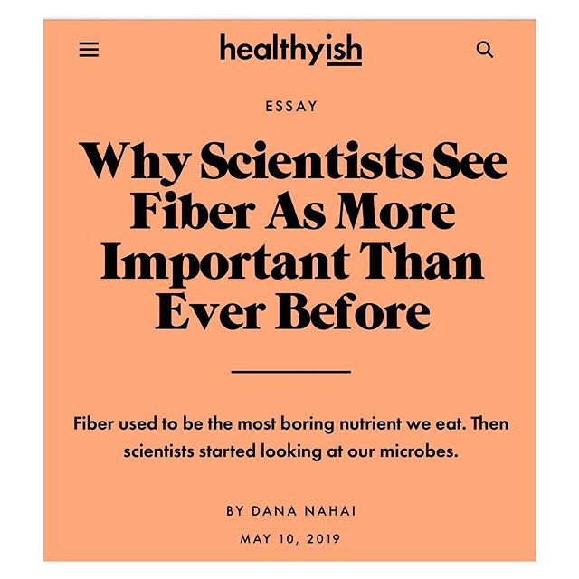 I wrote for @healthy_ish @bonappetitmag about the relationship between your gut microbes and dietary fiber. I love this piece and hope you'll read it. (Link in bio.) A huge thank you to my editor and the fact check team @condenast. They make sure that every story you read is based on fact and solid research, and it's a huge honor to work with a publisher with extremely high standards and integrity for truth. More of this in the wellness space is good for everyone🥇#healthyeating #healthyfood #healthyish #health #fitness #wellness #wellbeing #haes #fiber #microbiome #plantbased #vegan #vegetarian #omnivore #healthycooking