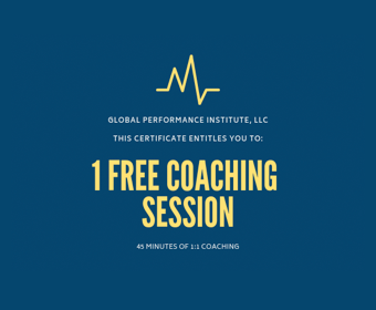 Global Performance Institute - Private 1:1 coaching session 45 minutes (value $150)