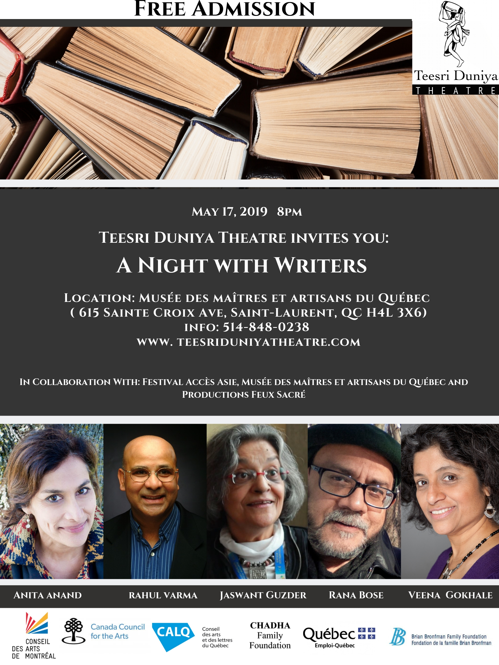 A Night with Writers - 2019