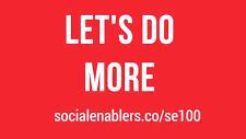 - Top 100 Global Social EnablerSocial Enabler Programme, 2017