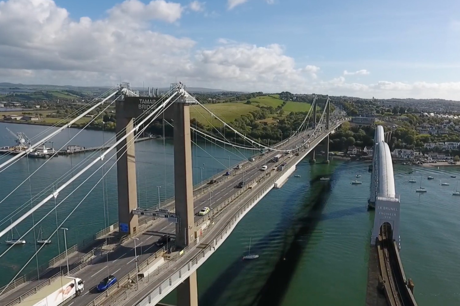 Two new lanes have been added to the Tamar Bridge - a feat of unprecedented skill.