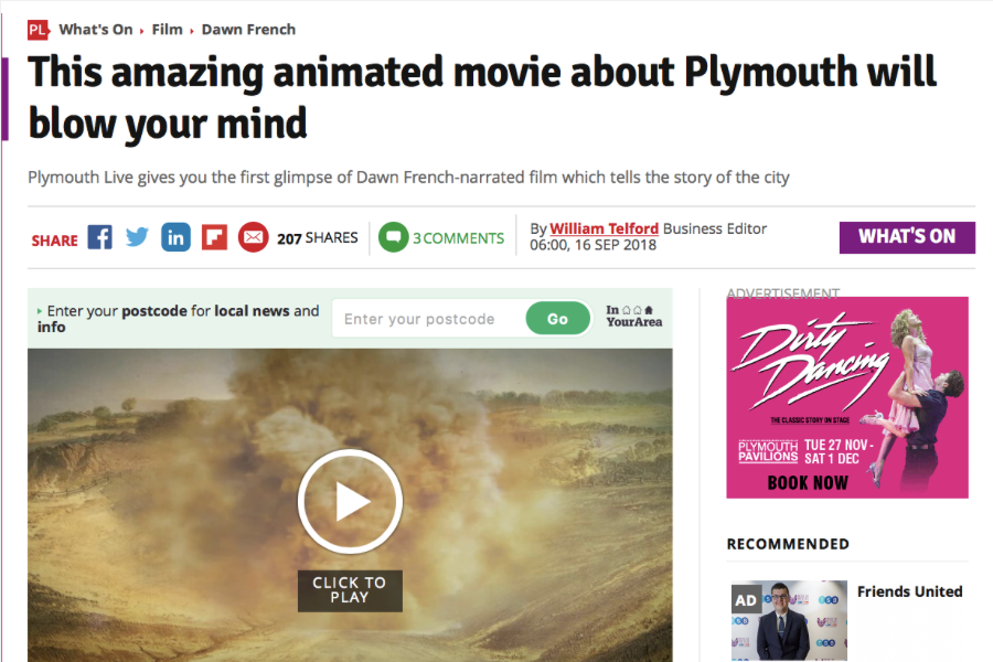 PLYMOUTH HERALD ARTICLE - 16 Sept 2018William Telford, Business Editor for the Plymouth Herald came in to the ICE SW offices today to interview Director Miranda Housden ahead of the launch of Engineering Plymouth. We gave them an insight in to the production process and an exclusive sneak preview of the trailer to share with their readers.It also covered details of the launch screening, to which members of the public will be invited..Read the full article here. And view the full trailer on YouTube here.
