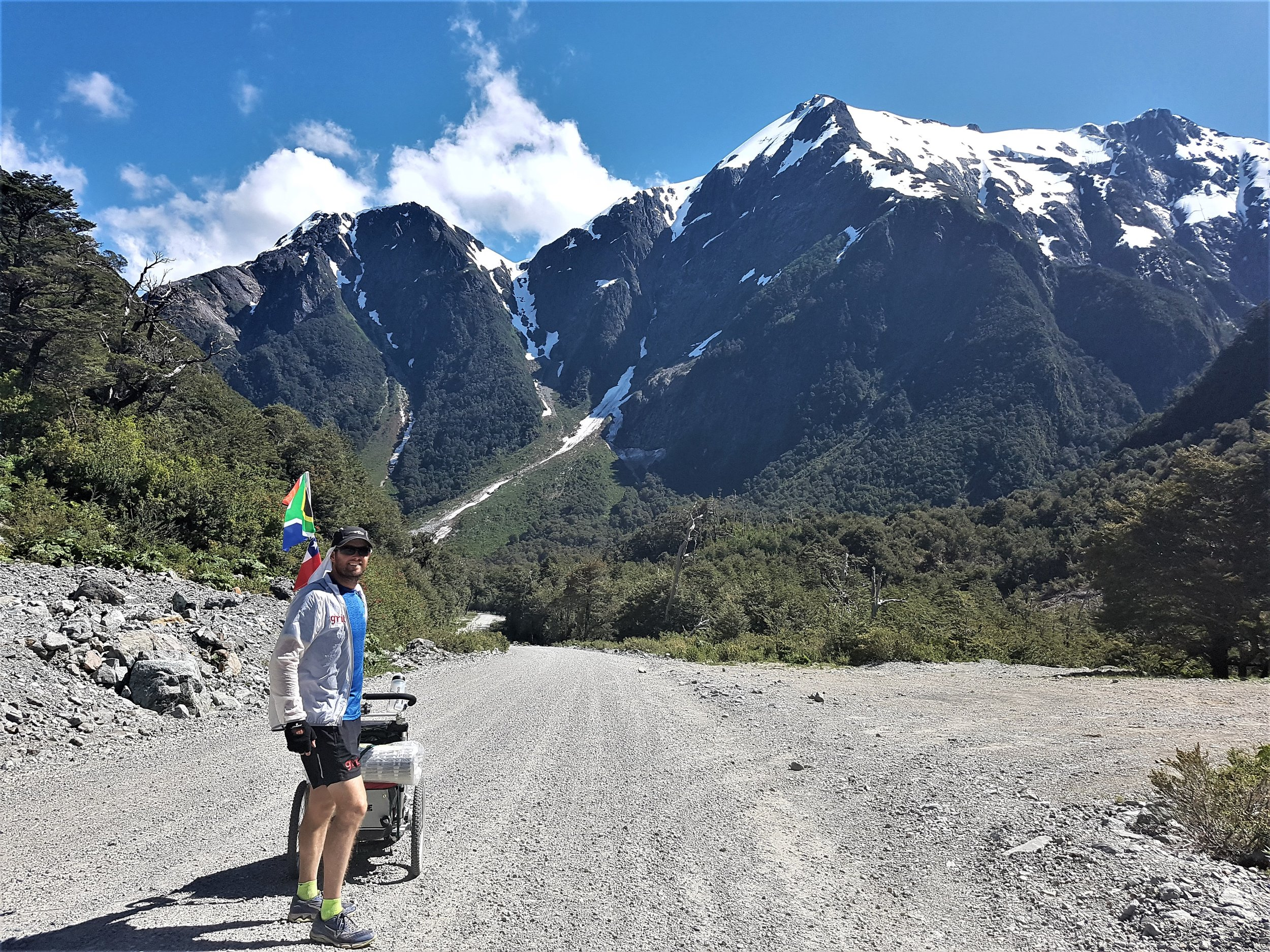A running expedition through Patagonia.