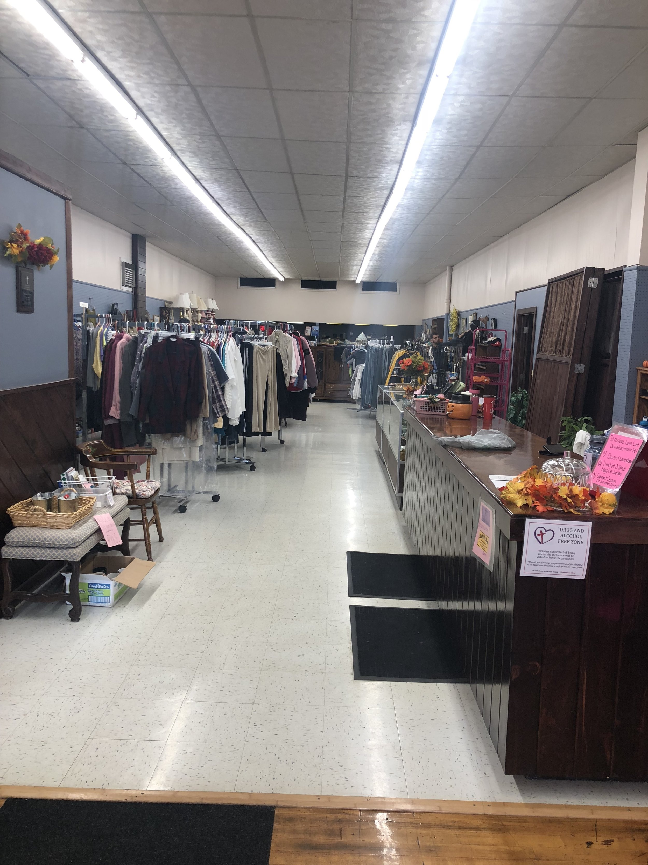 Helping Families - We offer used clothing, households items, some furniture and many other items available for a small donation. The idea of 2nd Chance Clothing and More is to help families on a small budget be able to come in and provide for themselves and their children their basic needs without breaking the bank!