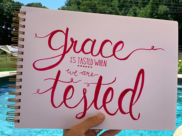 Anyone out there feeling like they're being tested?? 🌿 His grace is yours. 💕 It's not always easy to worship Him in the midst of our pain and suffering but what a difference it makes when we do. We don't understand His precious timing but it always just works out because, well, He's awesome and He loves us. 💕