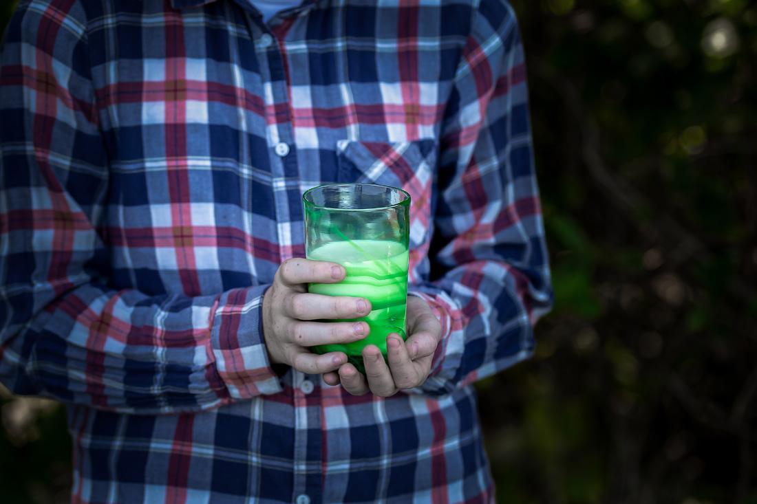 Selvlaget drikkeglass