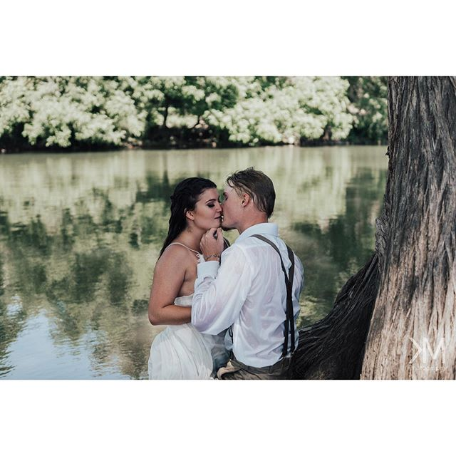 """You are my heaven on earth."" • Photographer: @kristenmuscillophotography  Planner/coordinator: Brandi Paris - @next_chapter_weddings  Models: @jordan_brittany99 @boomhauer42  MUA: @facesbyaritx  Location: Louis Hays Park"