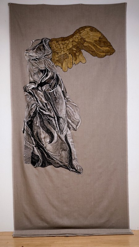 Nike of Samothrace with Golden Wing