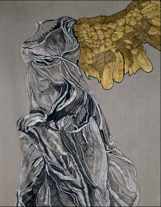 DETAIL: Nike of Samothrace with Golden Wing