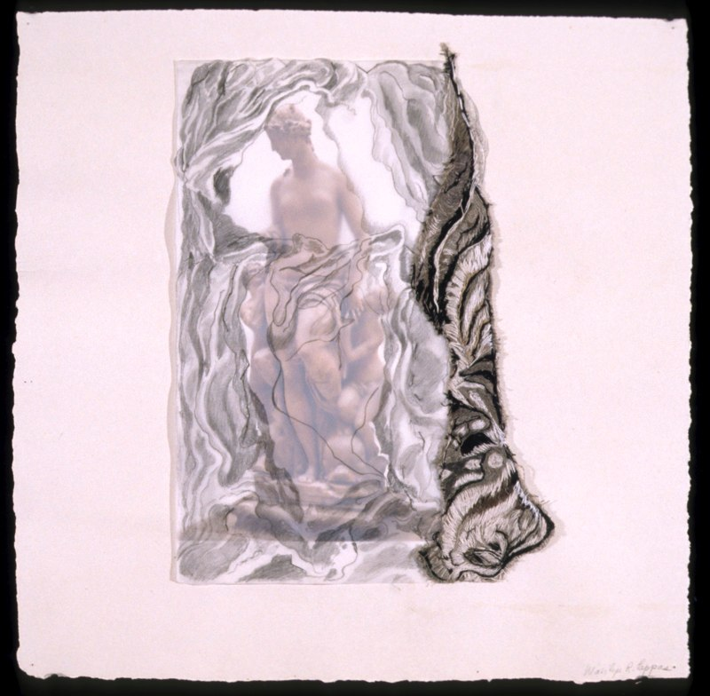 Veiled Muse with Cherubs