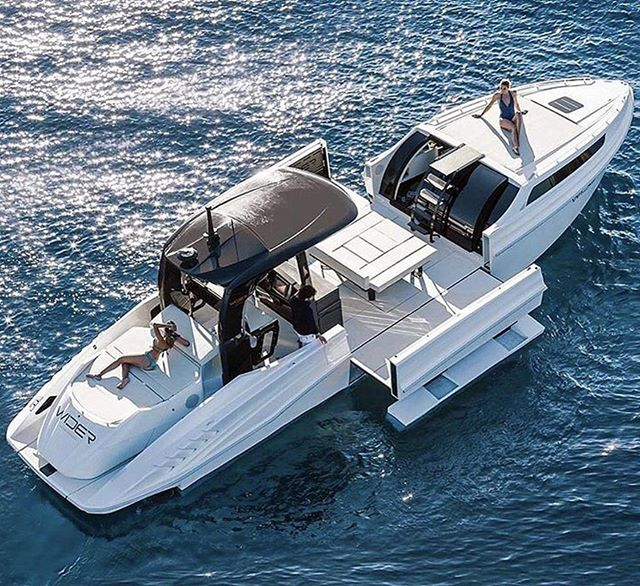Check out this transforming Yacht! 😎 🙌  What do you think?  By @wideryachts Watch the best boating content on @waypointtv