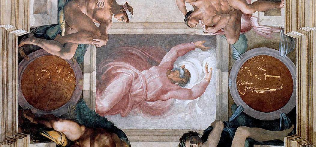 Michel-Ange,  Séparation de la Lumière et des Ténèbres , 1508-1512, Chapelle Sixtine, Vatican