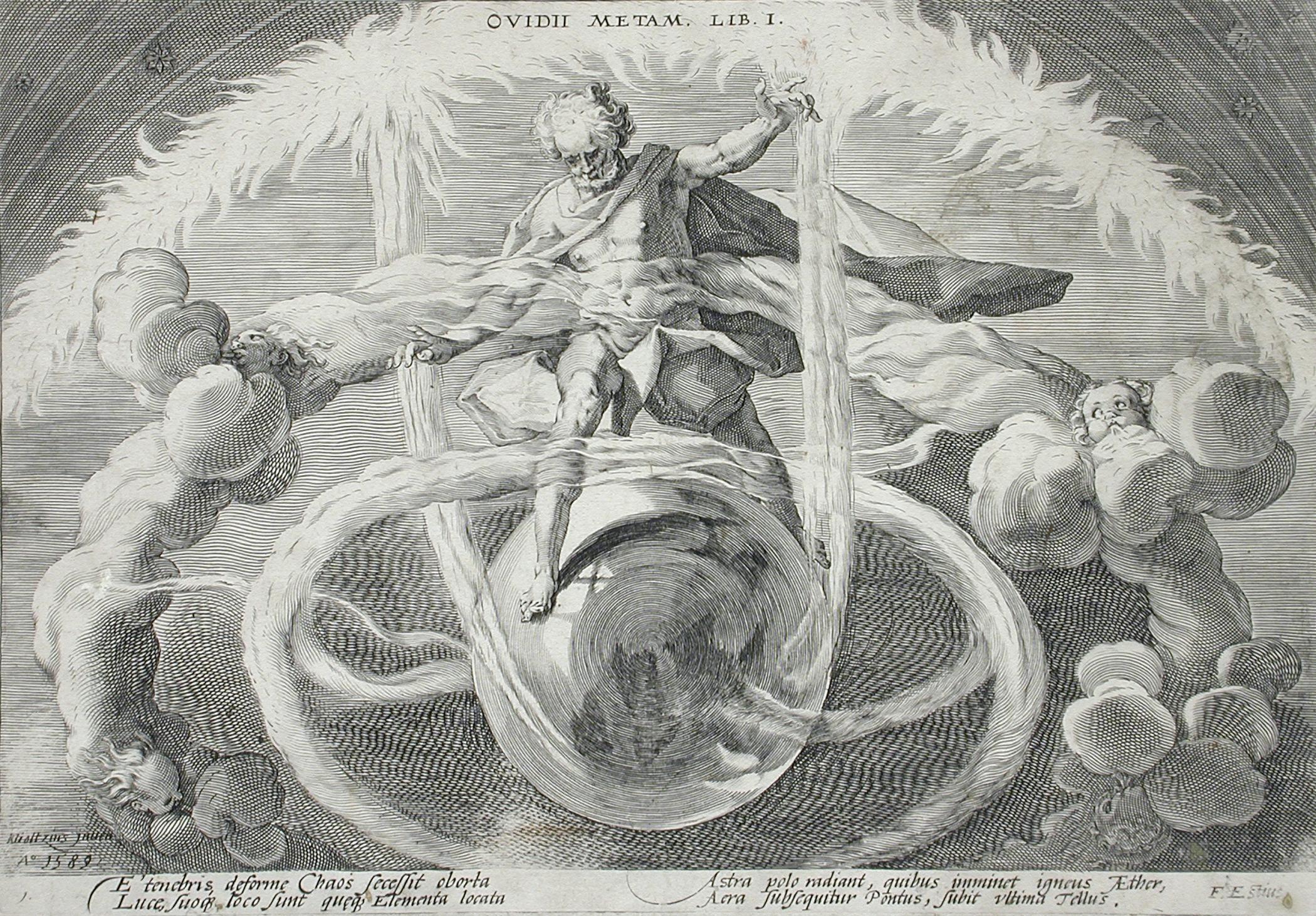 Anonyme (d'après Hendrick Goltzius),  La séparation des éléments à partir du Chaos , 1589, The Metropolitan Museum of Art, New York