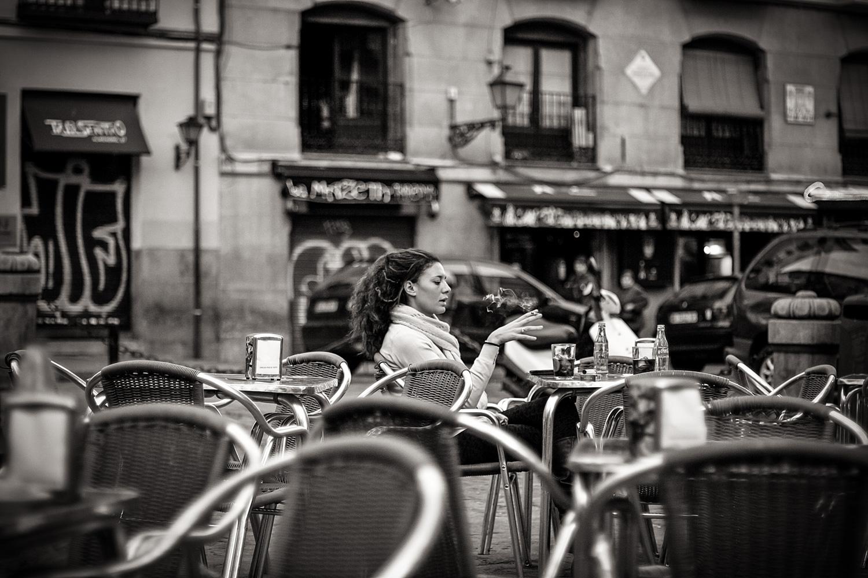 0010 A woman smoking cigarette...streets of Madrid_02.jpg