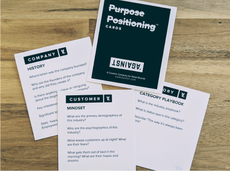 Purpose Positioning™ Cards - A deck of cards to facilitate Q&A in your strategic planning sessions.