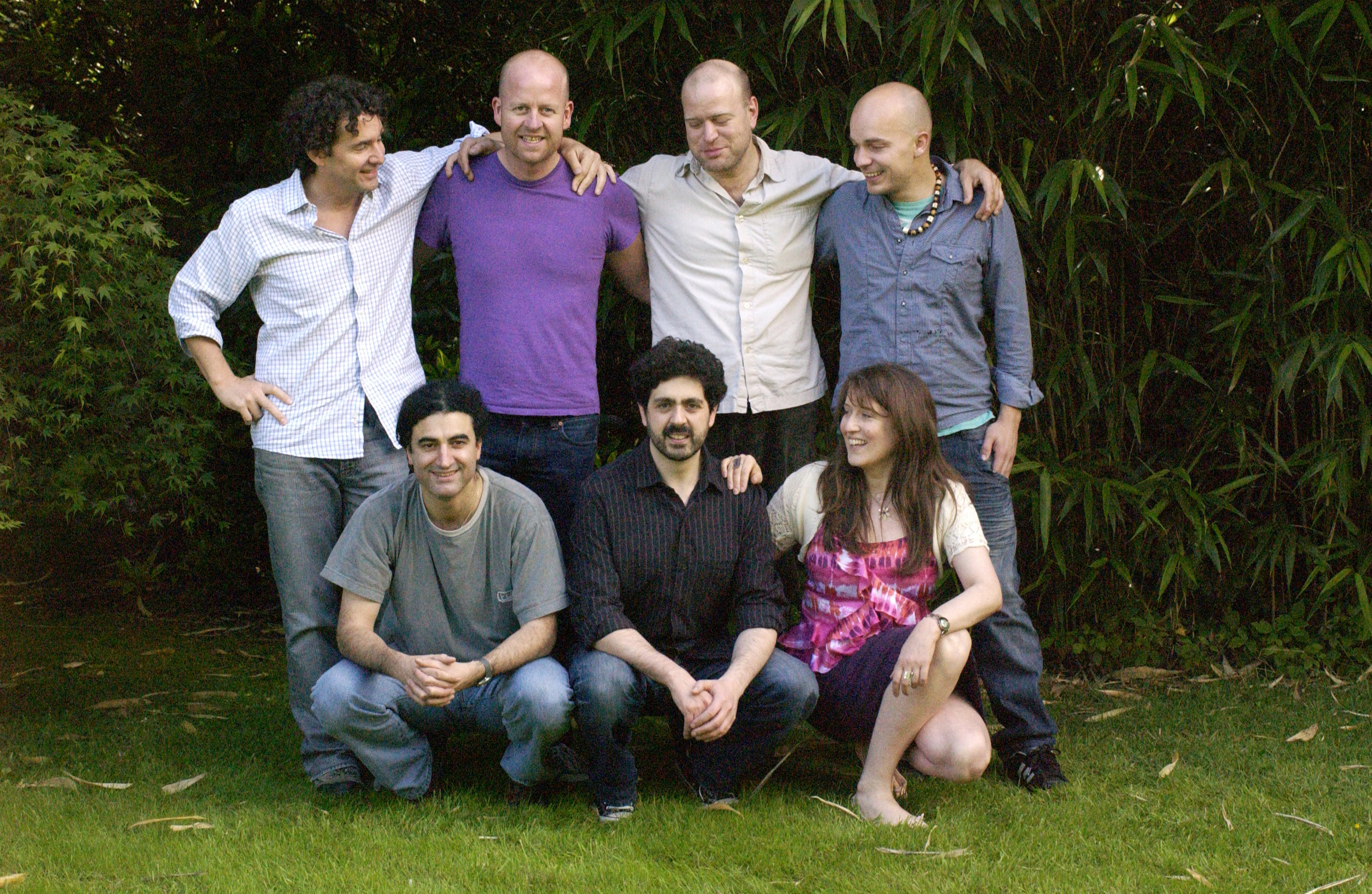 Latin band sitting in garden.jpg