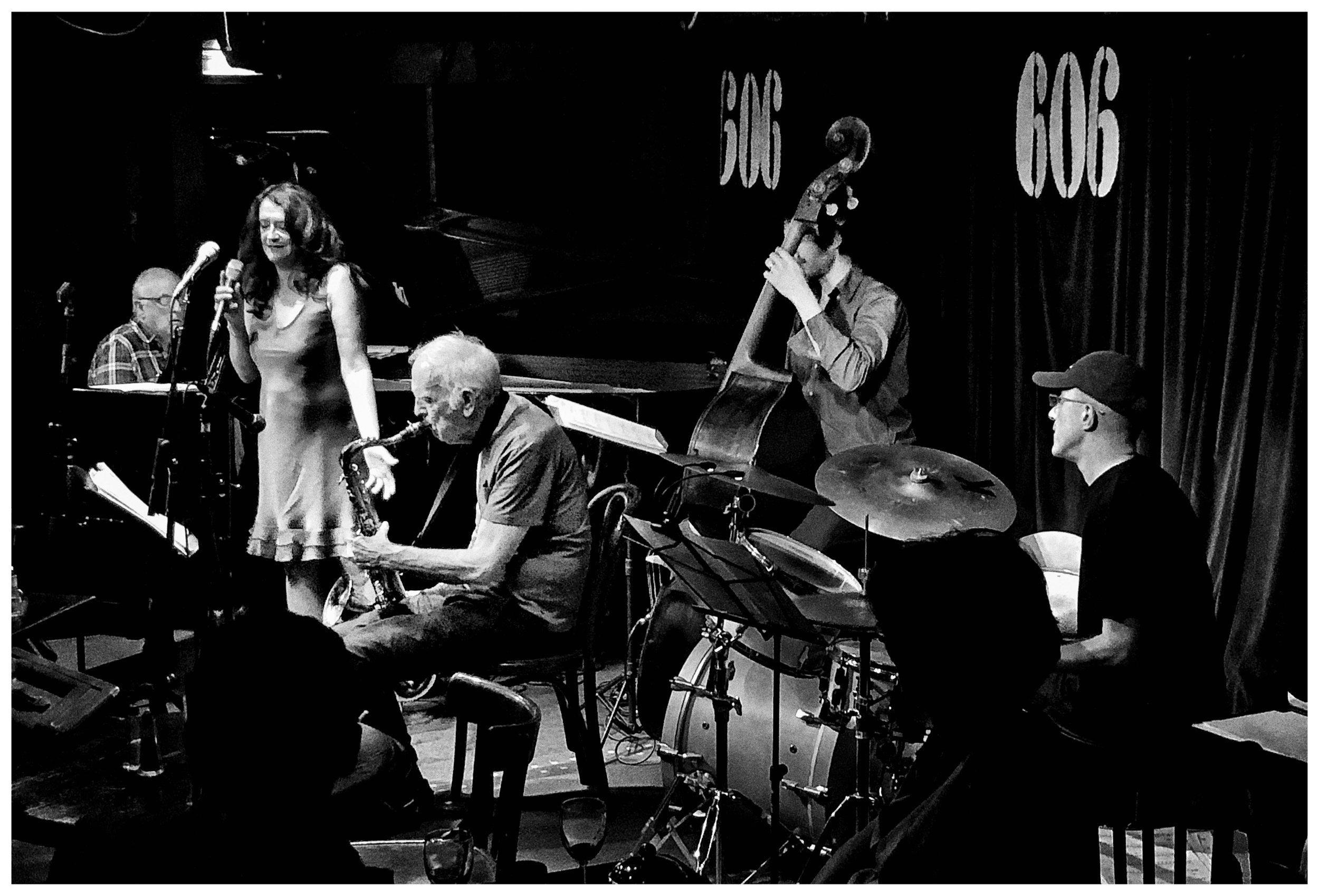 Esther sings on Duncan's birthday gig @ 606 Jazz Club.JPG