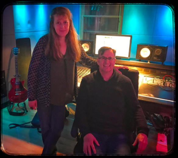 Daniela in the studio with Kevin Devine, working on his forthcoming album. (2018)