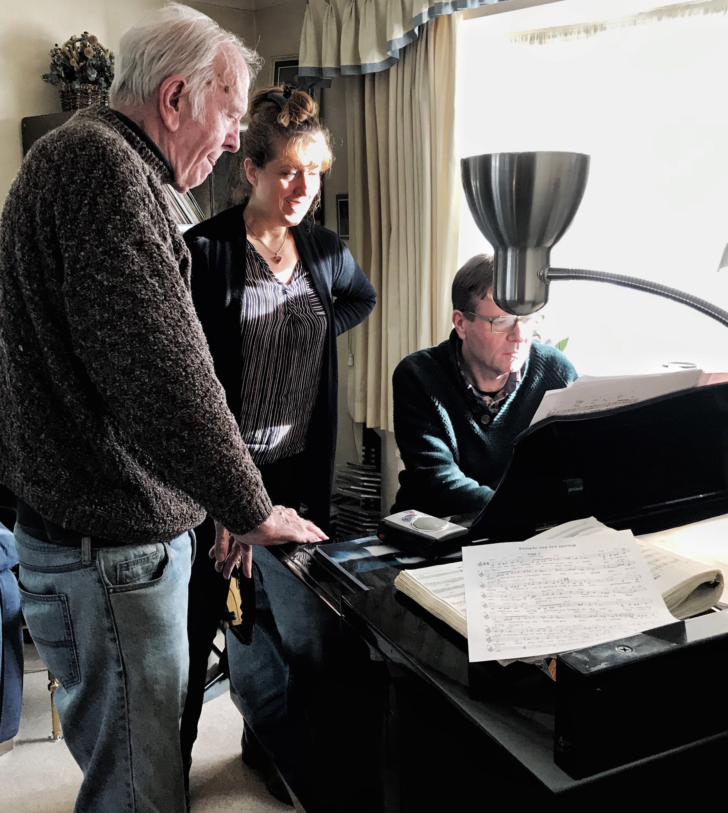 """Rehearsing new songs for the """"Duncan Lamont Songbook"""""""" show with Duncan Lamont & Duncan Lamont Jnr - preparations for our trip to Scotland in June! (17/3/19)"""