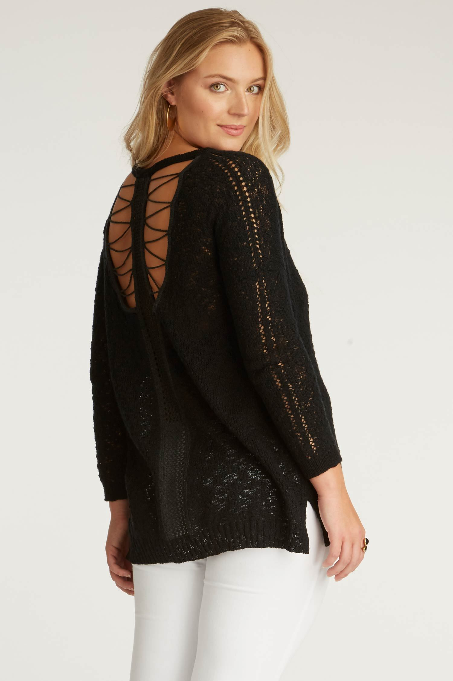 You may also like: - Indigenous Designs Crochet Back Sweater