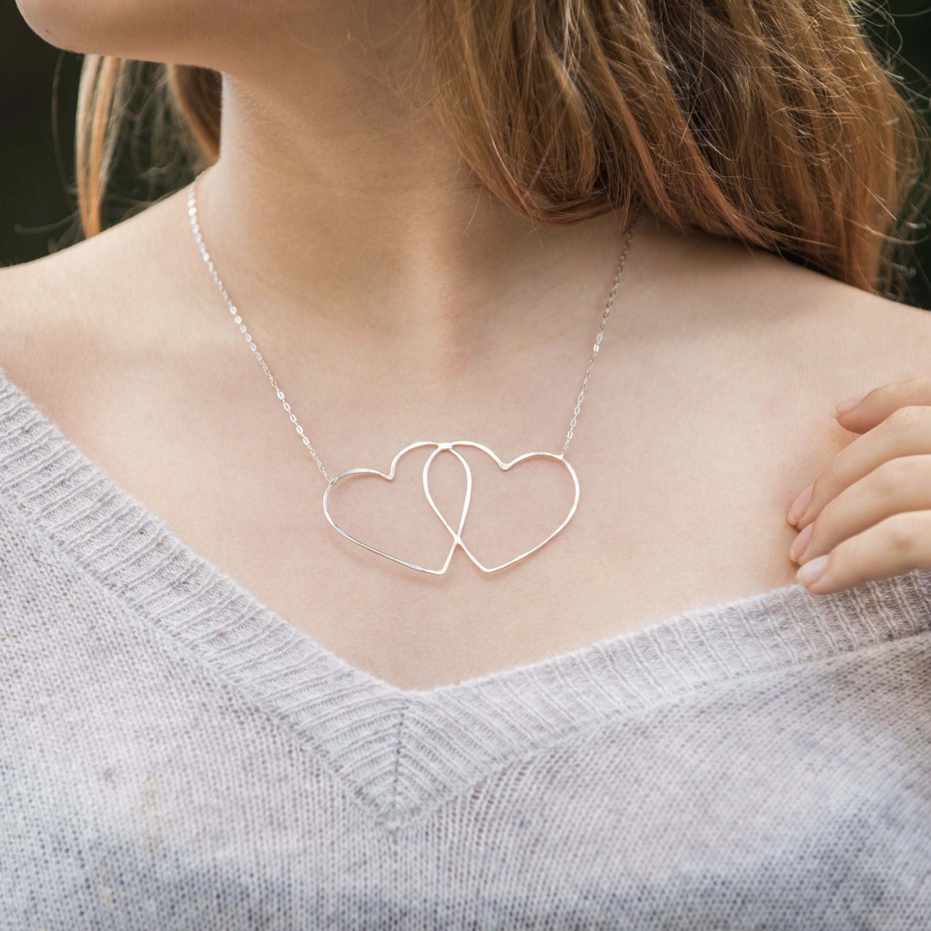 You may also like - Lisa Rueff Double Heart Necklace