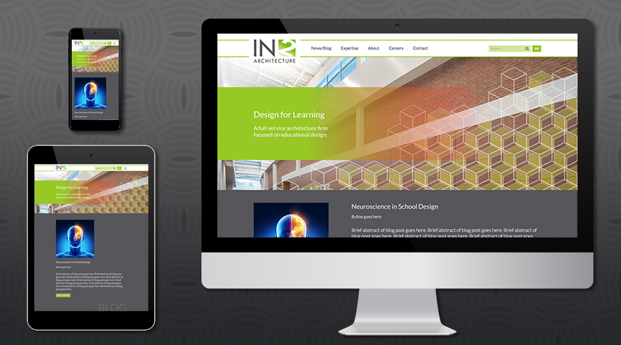 www.in2arch.com   Services Website for a newly-branded architecture firm in Dallas, Texas. The site featured a robust projects section with photo gallery, showcasing their extensive experience. The site also includes a blog, careers functionality, site search, contact form and Wordpress Content Management system.