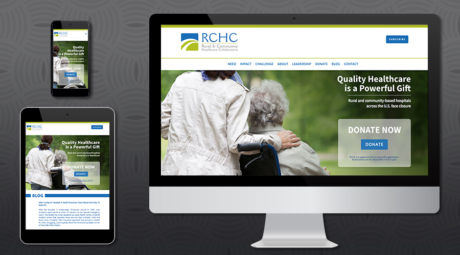 www.ruralchc.com   Starter Website for a small non-profit foundation, founded by the leaders of Community Hospital Corporation. This interim site was developed to provide information and solicit donations during production of the full Website. The site includes colorful infographics, leadership bios, donation and contact forms as well as a newsletter sign-up.