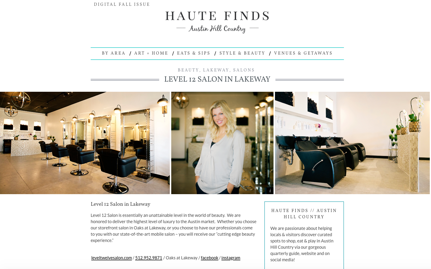 Haute Finds Feature - Level 12 Salon