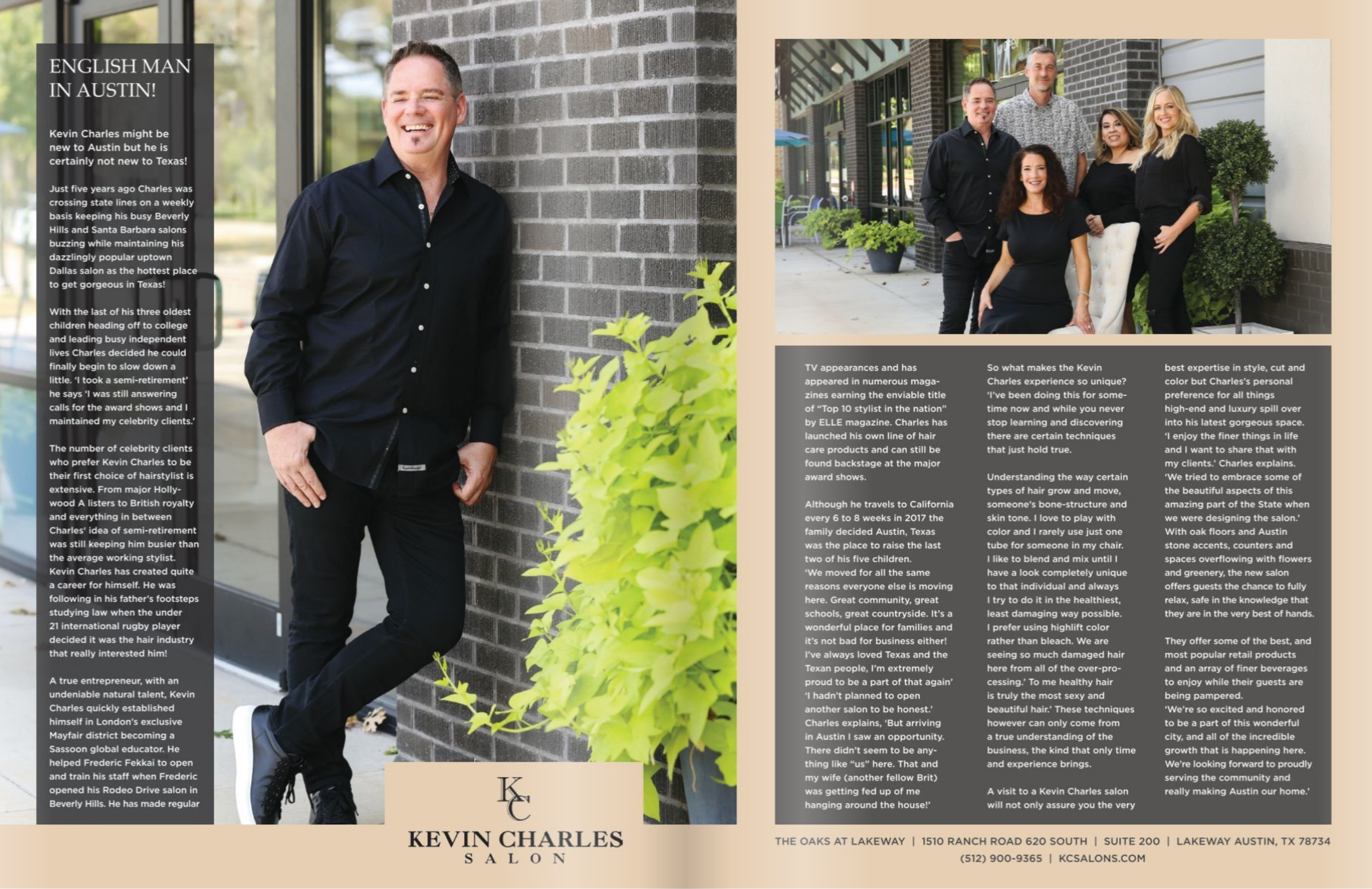 Kevin Charles Salon in Waterways Men's Issue - Kevin Charles Salon