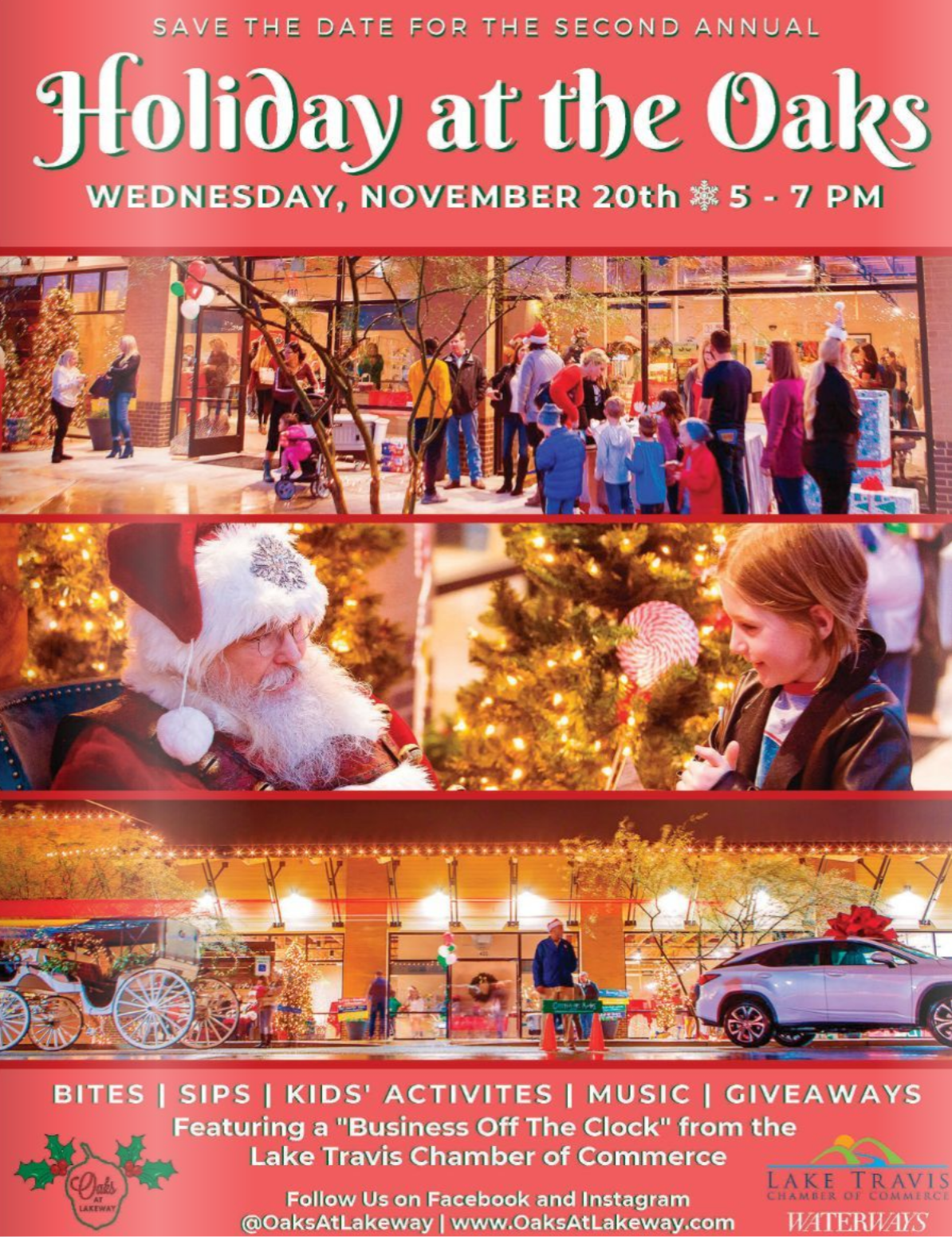 Save the Date for Holiday at the Oaks! -