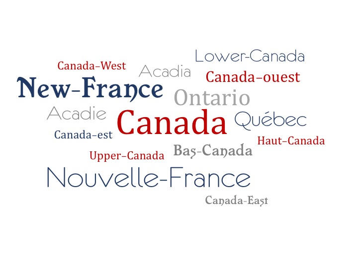 The Names of Canada over Time