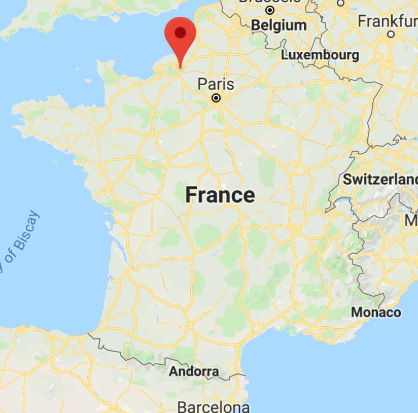 Emplacement de Rouen, en Normandie  (Google Maps)