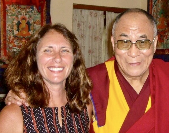Susan Murphy with His Holiness, Dalai Lama, 2005.