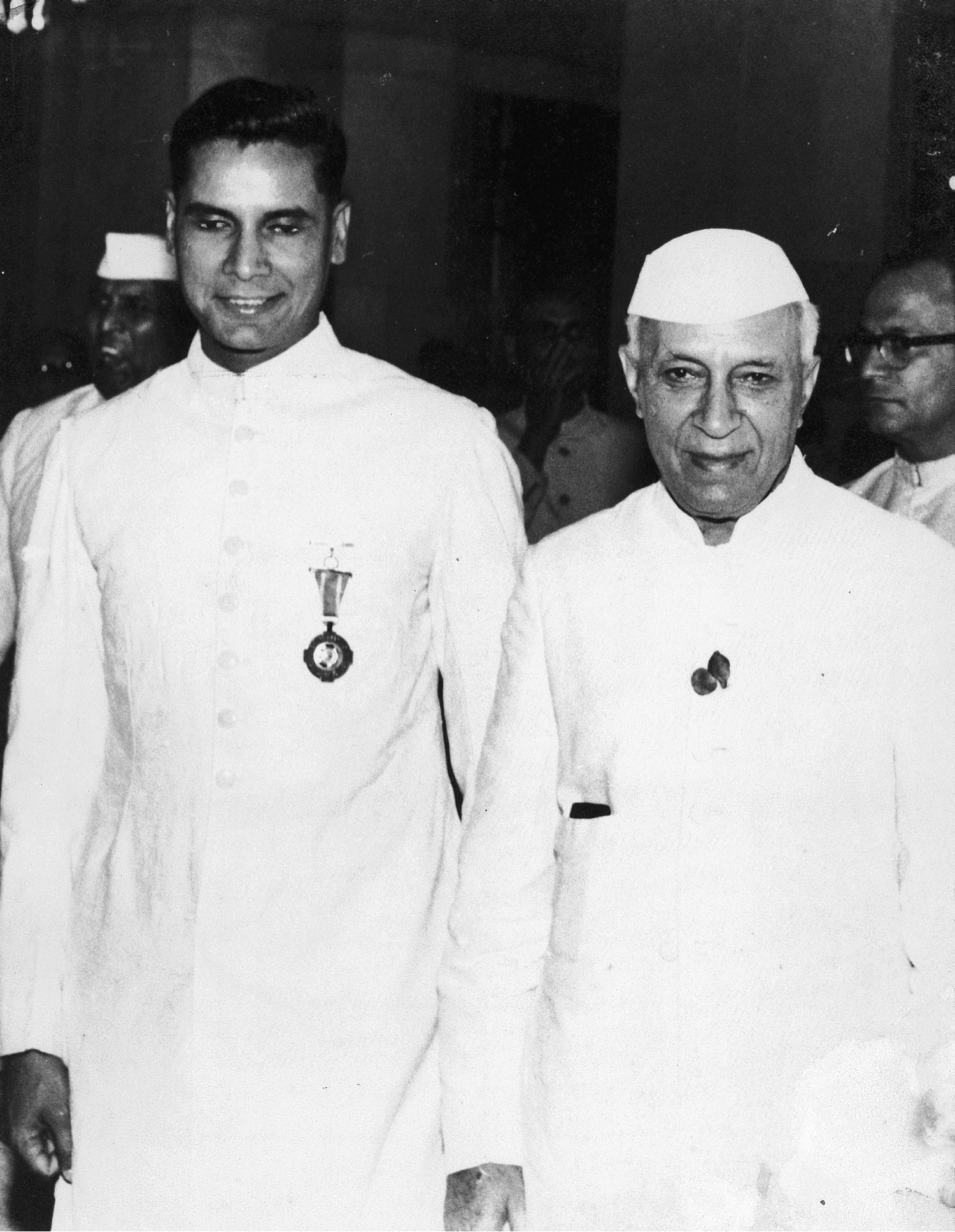 KC and Nehru at the Padma award ceremony, c. 1962