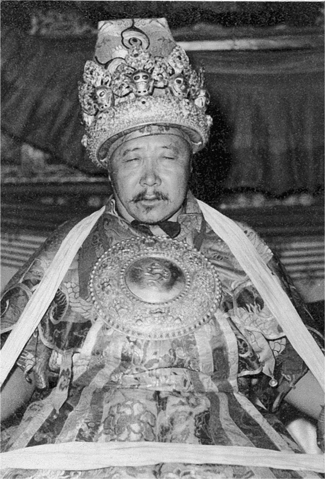 Tibetan Oracle before going into trance, c. 1958