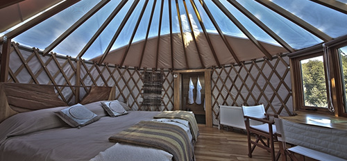 The yurts were sleekly sophisticated and oh so comfy after a big mountain day.