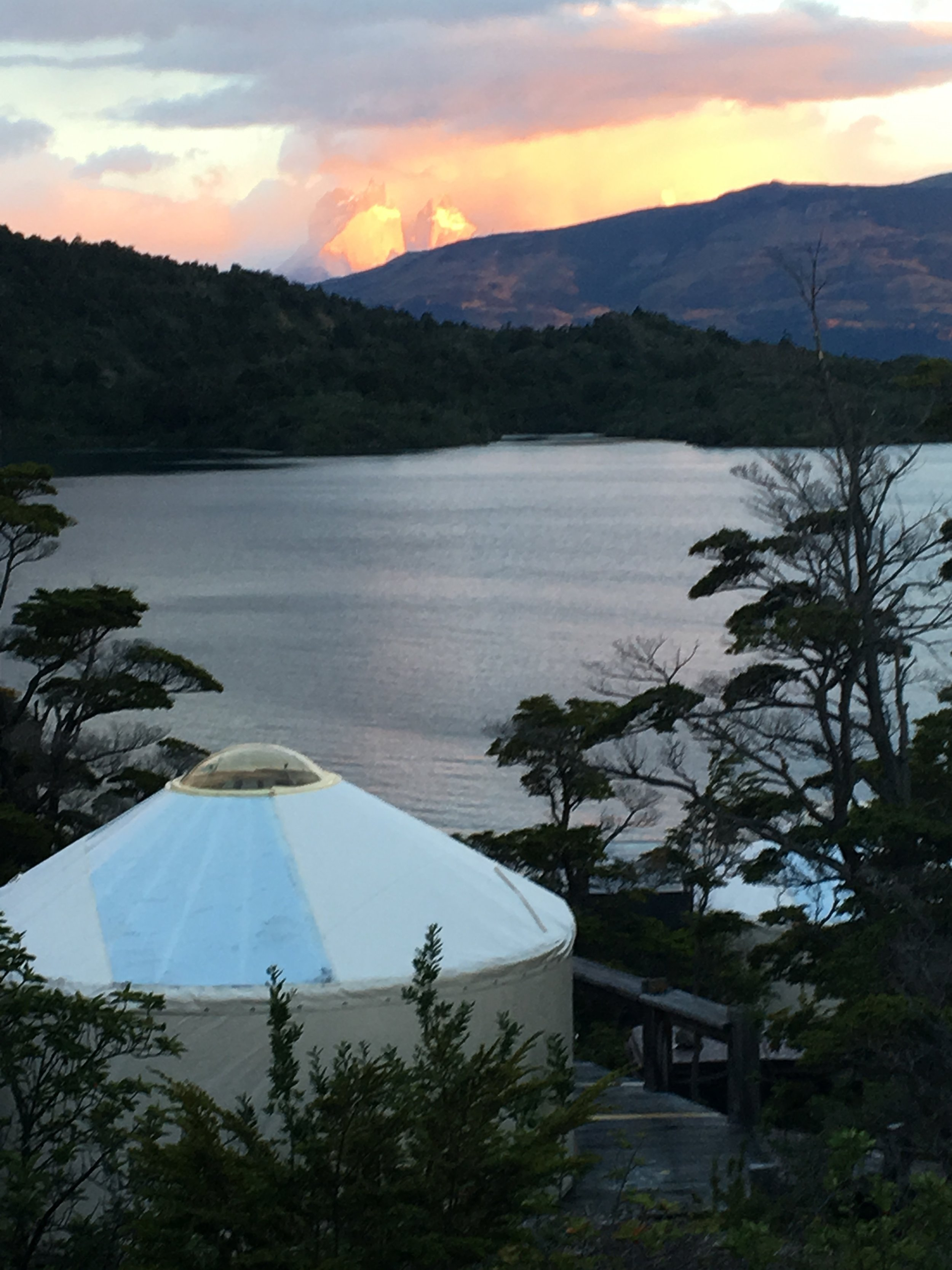 The Yurt sunsets were otherworldly.
