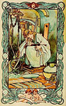 """Cinderella,"" Illustration by Charles Robinson (1900)"