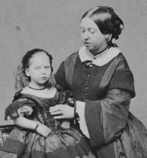 Queen Victoria and her daughter Beatrice.