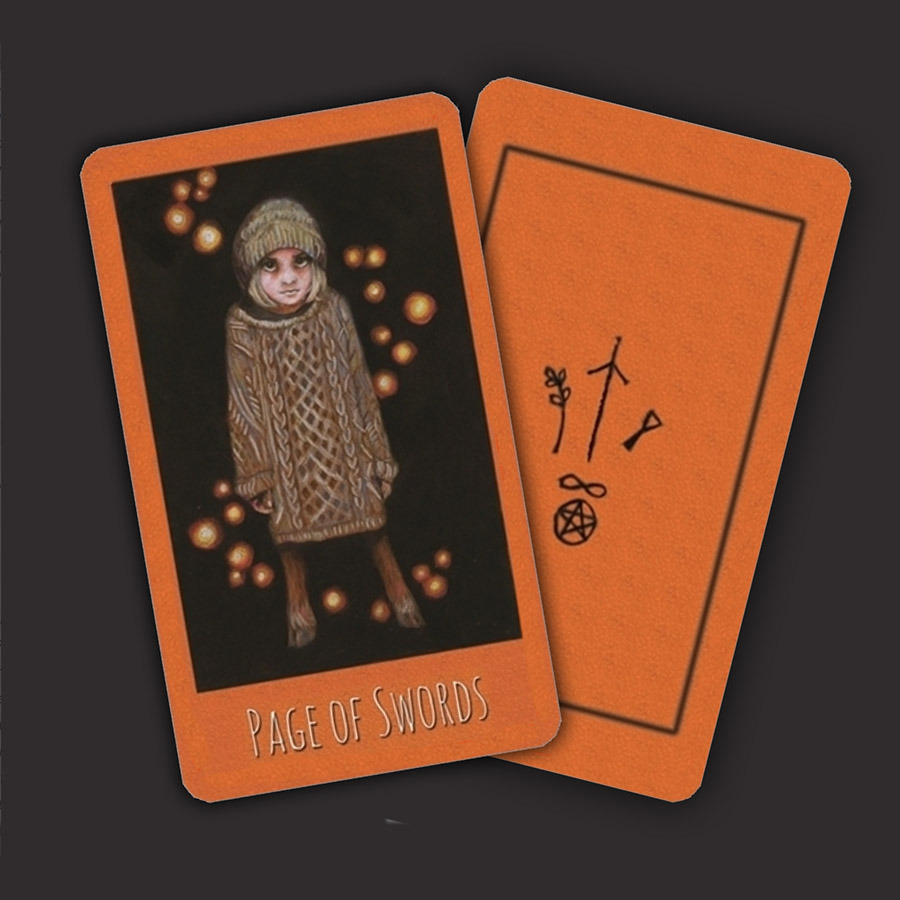 Tarot cards from Maggie Stiefvater's official website.