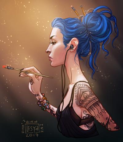 Karou by lesyablackbird via Tumblr.