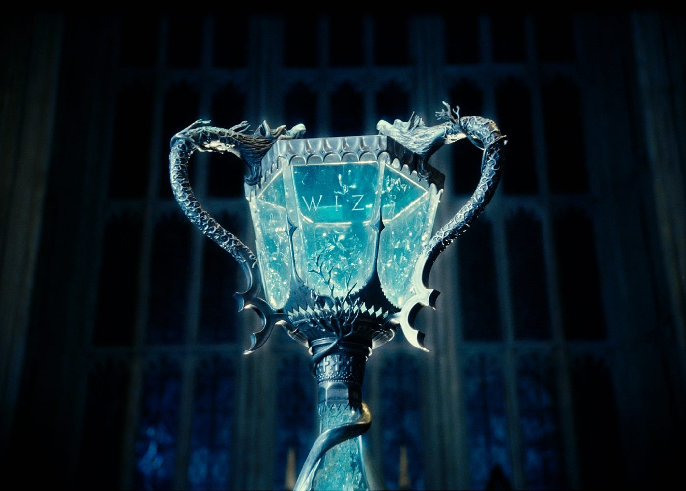 The goblet of fire from  Harry Potter and the Goblet of Fire  (2005, Warner Bros.)