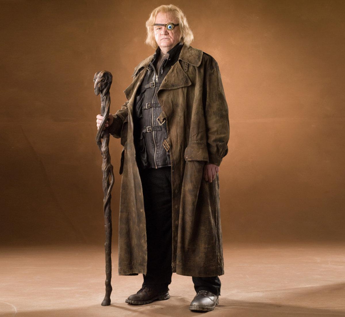 "Brendan Gleeson as Alastor ""Mad-Eye"" Moody (via Pottermore)."