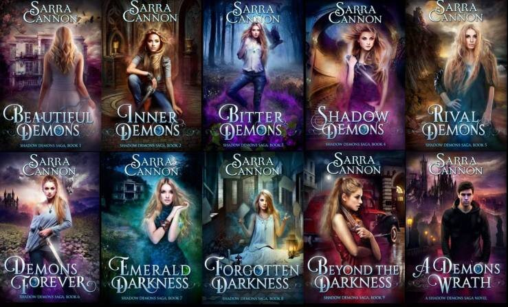 The first ten books in  The Shadow Demons Saga.