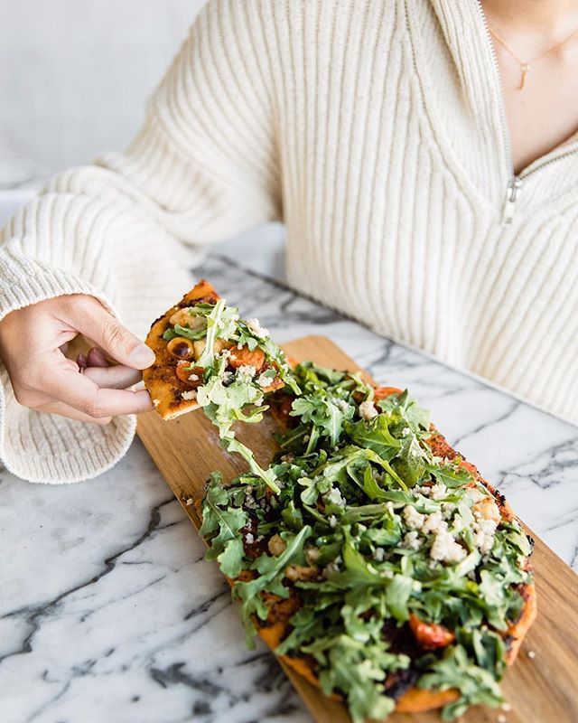 We Are Giving thanks that the weekend is around the corner.  Our ancient grains flatbread, shot by @adrianmartinn
