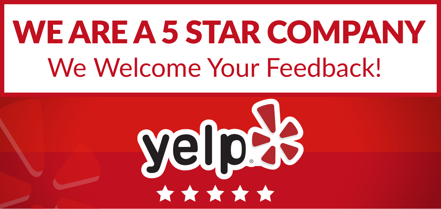 People love us on Yelp! Leave a review. -
