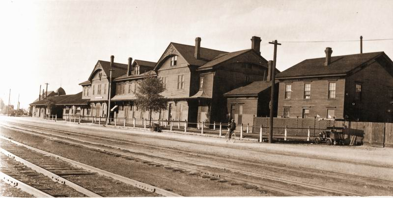 The original Laramie Union Pacific Depot, ca. 1900