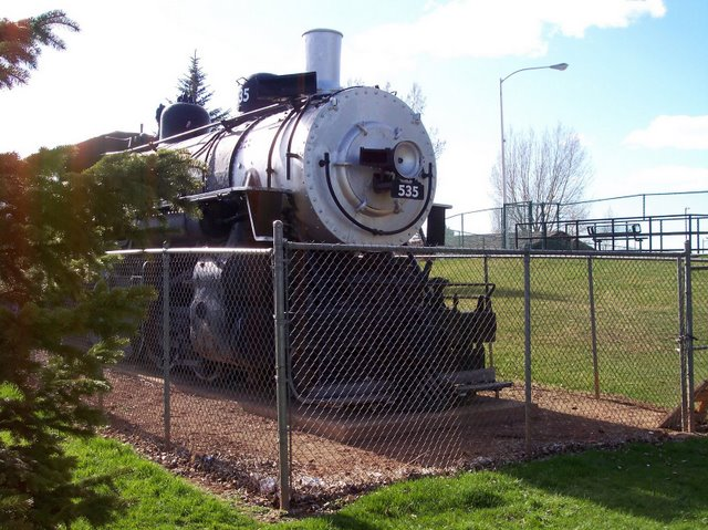 Union Pacific 2-8-0 535 - power for the train.  Presently in LaBonte Park, Laramie.