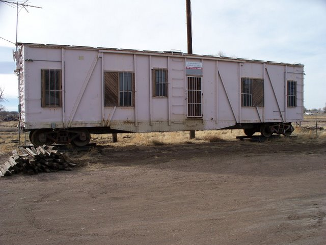 Union Pacific 6 man bunk car - quarters for the work gang.  Presently in Laramie's West Side.